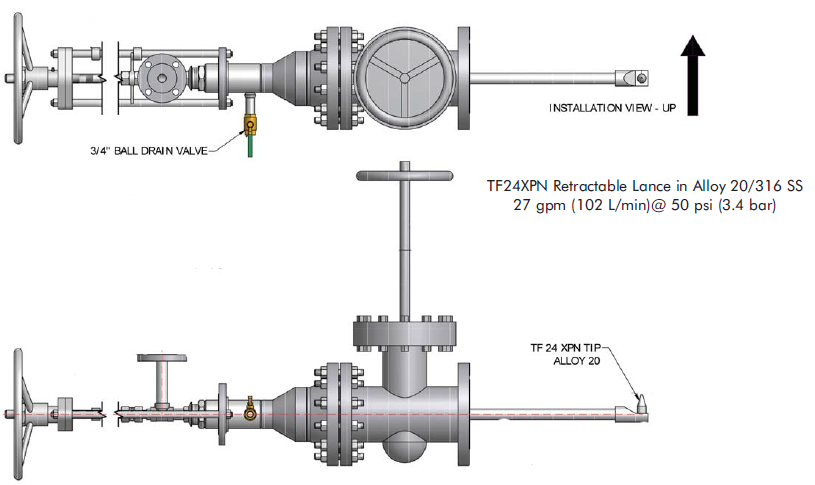 Custom Spray Nozzle Solutions - Sour Water Injection System