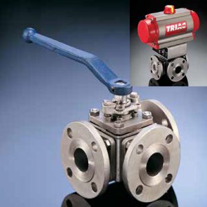 A-T Controls Triac 30 Series Multi-Port Ball Valves