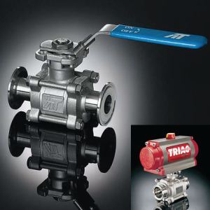 AT Controls Triac 77 Series - Sanitary End Ball Valves