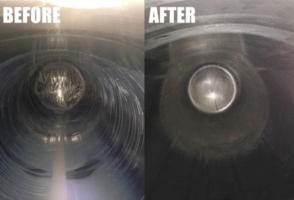 Alfa Laval Gamajet Sidewinder Before and After