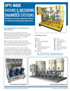 Metering and Dosing Packaged Systems