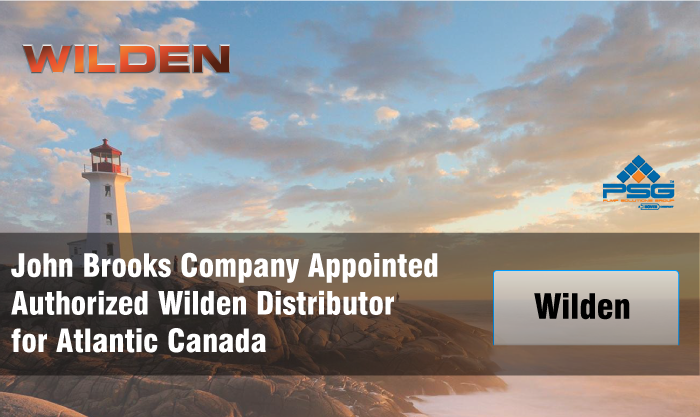 John Brooks Company named Authorized Wilden Distributor for Atlantic Canada