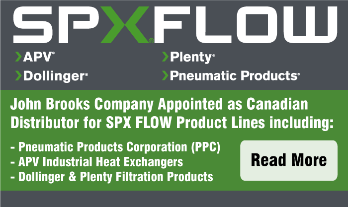 John Brooks Company Appointed Canadian Distributor for SPX Flow Products