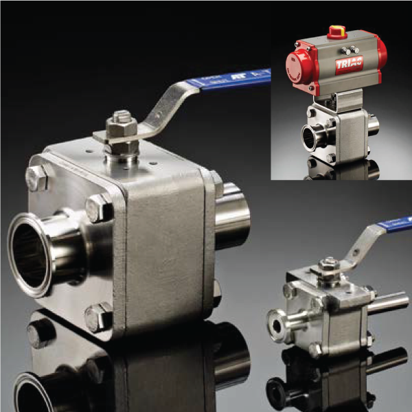 A-T Controls Triac H78 High Purity Ball Valves