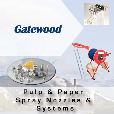 Gatewood Pulp and Paper Spray Nozzles and Systems from John Brooks Company