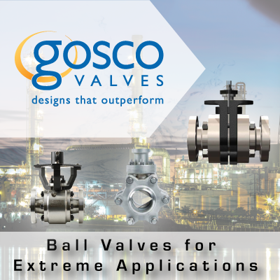 Gosco Ball Valves for Extreme Applications from John Brooks Company