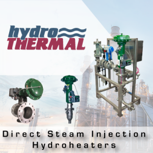 Hydro-Thermal Direct Steam Injection Hydroheaters from John Brooks Company