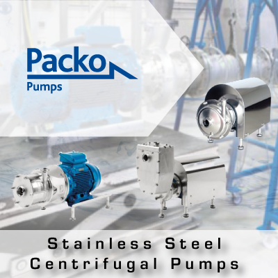 Packo Stainless Steel Centrifugal Pumps from John Brooks Company