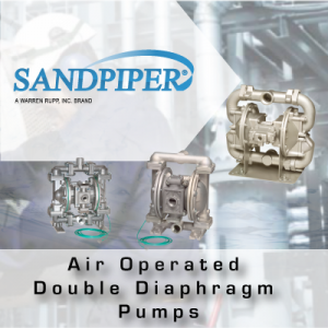 SandPIPER Air Operated Double Diaphragm Pumps from John Brooks Company