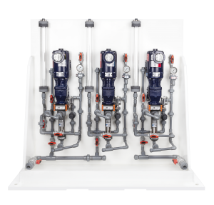 chemical metering pump system front view
