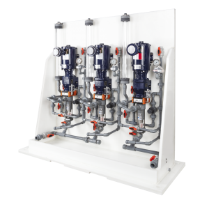 Chemical metering pump system