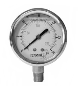Glycerin Filled Industrial Pressure Gauge