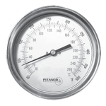 Adjustable Angle Bimetal Thermometer