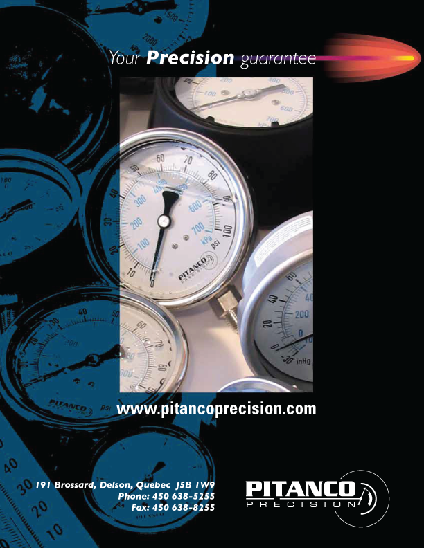 Pitanco Precision Products from John Brooks Company