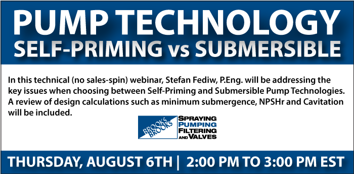 Webinar - Pump Technology Self-Priming vs Submersible
