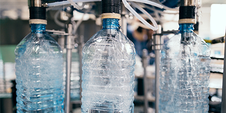 Bottled water filtration - food and beverage