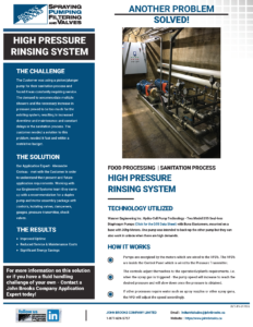 High Pressure Rinsing System with Hydra-Cell Pumps Case Study