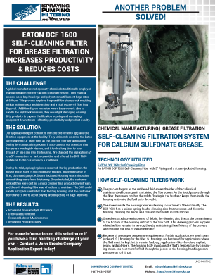 Case Study: EATON DCF 1600 for Calcium Sulfonate Grease Filtration
