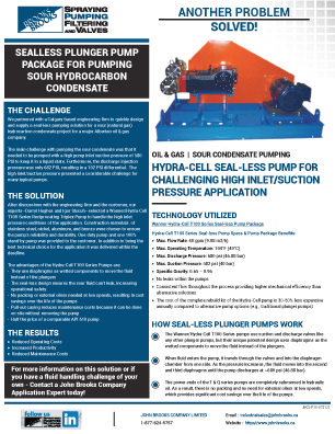 Hydra-Cell T100 for Sour Condensate Pumping