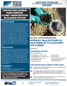 HydraCell D35 for Oil Sands Pipeline Slurry